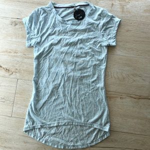 Poof! NWT Destroyed/Distressed T Shirt Top Sz L